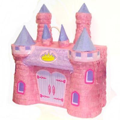 Pink Princess Castle Pinata - 42 x 40 cm - Childrens Birthday Party Game - Pinata Princess