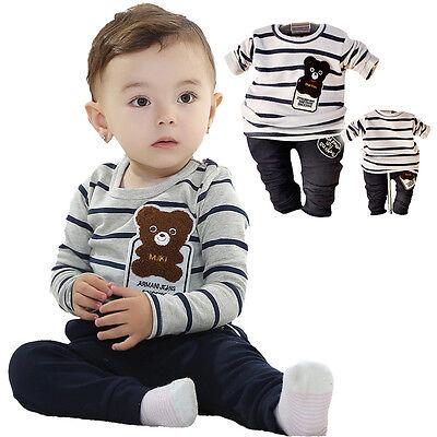 Kleinkind Junge Teddybär 2 TEILE Set Langärmlig Top+Hose Kostümgröße 1-3 - Kleines Baby Teddy Bär Kostüm