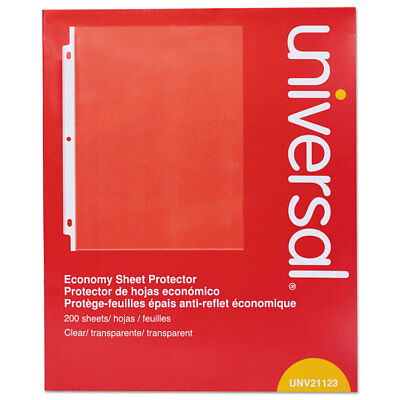Universal Standard Sheet Protector Economy 8 12 X 11 Clear 200box 21123