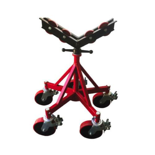 B&B 3511 5-Leg Pipe Jack Stand with Heavy Duty Rubber Wheels - Remanufactured