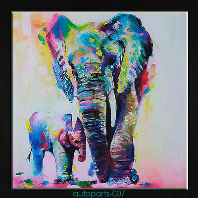 New Oil Painting Abstract Wall Decor Hand-painted Art  Elephant on Canvas as07