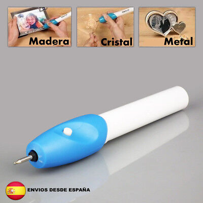 GRABADOR ELECTRICO PARA METAL MADERA PLASTICO CRISTAL CUERO DECORAR MANUALIDADES