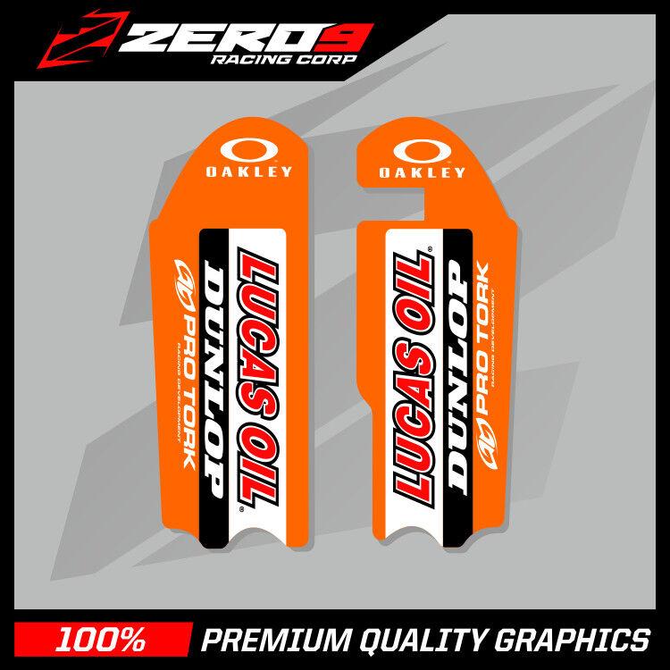 Details about KTM SX 50 2009 - 2019 SX 65 2009 - 2019 MOTOCROSS GRAPHICS  FORK DECAL LUCAS OIL
