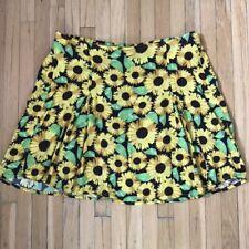 H&M Mini Skirt in Yellow Sunflowers | eBay