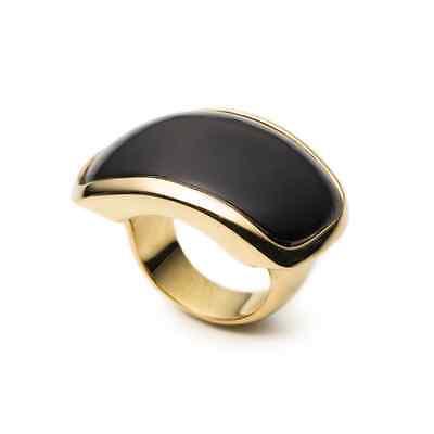 Maiyet Designer Black Horn and 18K Gold-Plated Ring/ Ret $750