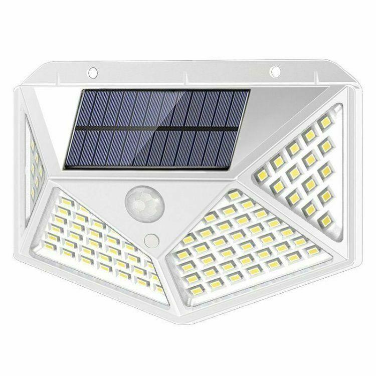 Waterproof 100 LED PIR Motion Sensor Solar Power Outdoor Garden Lamp Yard Light