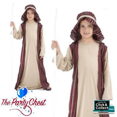 BOYS SHEPHERD CHRISTMAS NATIVITY COSTUME Child Joseph Fancy Dress Outfit 887/018