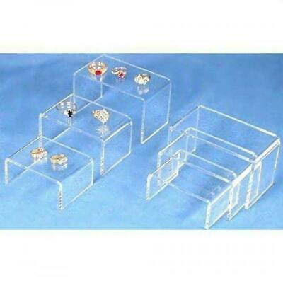 6 Clear Acrylic Showcase Fixtures Jewelry Display Risers.