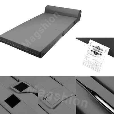 Dark Gray Foam Seat Mattress Sleeper Chair Folding Bed Kid Bed Wide: 23