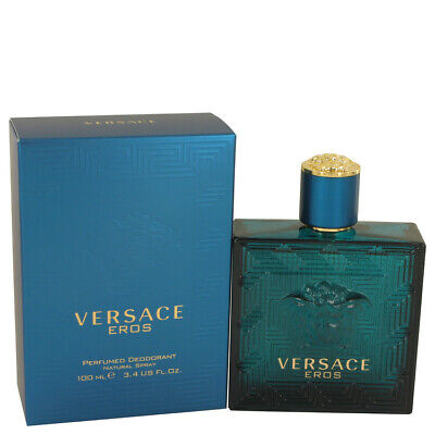 Versace Eros by Versace 3.4 oz 100 ml Deodorant Spray for Men New in Box
