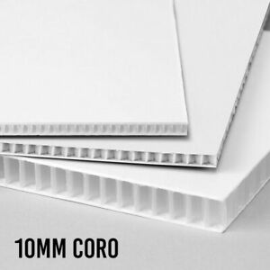 White Corrugated Sheets 10mm x 4ft. x 8ft.