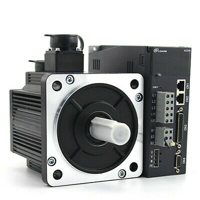 Free Shipping 2kw 220v 7.7n.m 130st-m07725 With Cable Ac Servo Motor Drive Kit