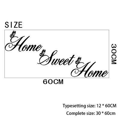 PAPER STICKER VINYL PROVERB DECOR DECAL MURAL BLACK BROWN  (Home Sweet Home Decor)