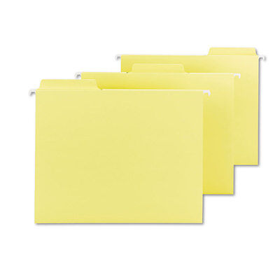Smead Fastab Hanging File Folders Letter Yellow 20box