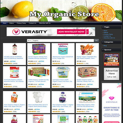 Heath Care Organic Store Home Make Money Fast Online Business Website For Sale