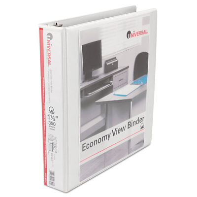 Universal Slant-ring Economy View Binder 1-12 Capacity White 4 Per Pack