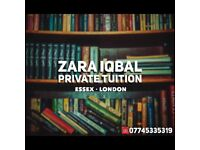 Private Tutor covering Essex and London (SATs / GCSE) tuition - Barking Ilford Romford Upminster
