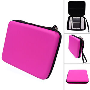 PINK Hard Protective Carry Storage Case With Zip for Nintendo 2DS + Games