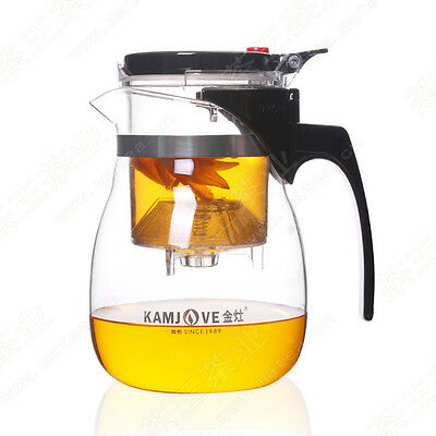 24 Oz Glass Teapot (24oz Kamjove TP-757 Glass Gongfu Tea Maker Press Art Cup Teapot Infuser 700ml )