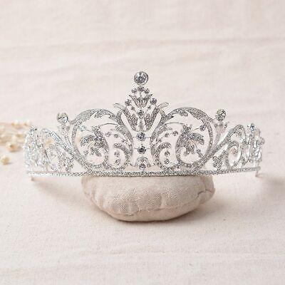 Tiara Cristal Novia Boda Diadema Concursos de Belleza Corona Reina Pelo Estrás