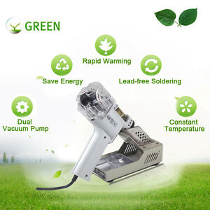 Electric-Desoldering-Gun-Solder-Sucker-Dual-Diaphragm-Vacuum-Pump-220V-S-998P
