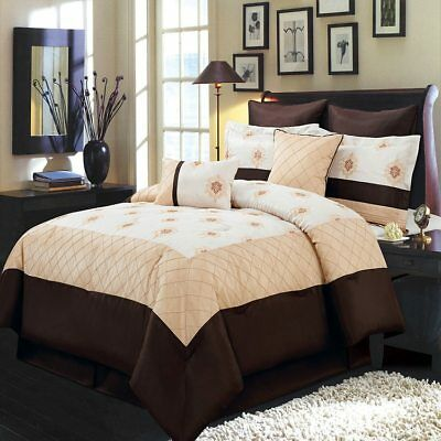 Relaxing 8pc Madison Comforter Set and Optional 5pc Matching Curtains (Madison Twin Comforter)