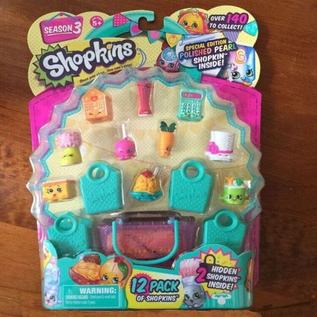 Shopkins Series 3 (Pack of 12) FREE SHIPPING KIDS XMAS BIRTHDAY PARTY GIFT TOYS