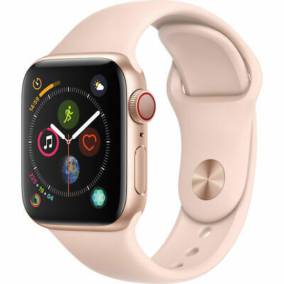NEW APPLE WATCH SERIES 4 - 40MM GOLD PINK SAND Fun BAND GPS/CELLULAR