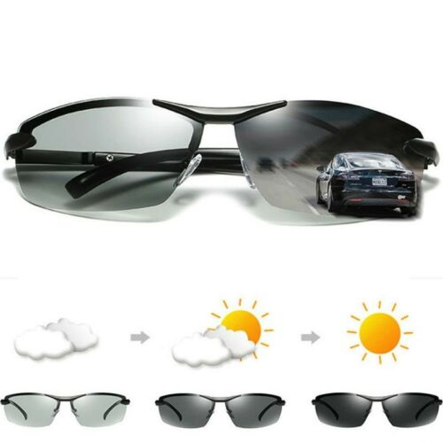 Men's Photo-chromatic Polarized Sunglasses Outdoor Driving F