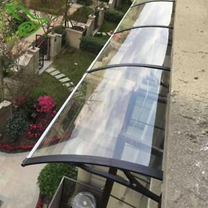 47in×40in Clear Sunshade Polycarbonate Awning For Window&Door 190812