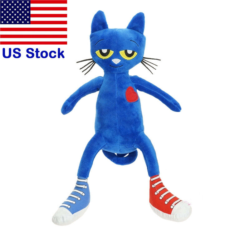 35cm Pete The Cat Soft Animal Plush Toy I Love My White Shoe