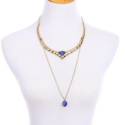 Stylish Anthropologie Egyptian Purple Swirl Gold Plate Double Loop -