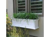 Maynes Yorkshire window box Planter 6 foot White