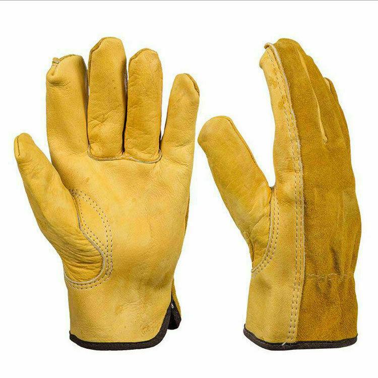 Arbeitshandschuhe Herren Damen Leder Garten Schutz Handschuhe Rosenhandschuhe DE