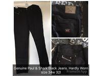 Paul & Shark Black Jeans