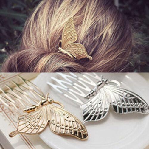 Vintage Fee Schmetterling Flügel Kamm Frauen Haarspange Haarklammer Großartig