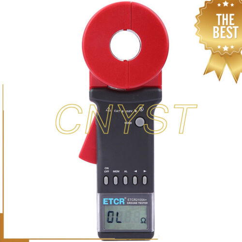 ETCR2100A+ 0.010 to 200Ohm Handheld Clamp Earth Resistance Meter Tester Gauge