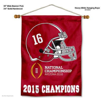 Alabama Crimson Tide 2015 Champions Wall Hanging Banner ()