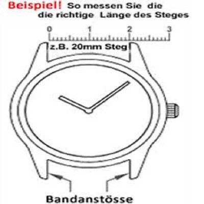 4 Federstege, Federstifte, Uhrenstifte, Edelstahl für Uhrenarmband 12mm bis 24mm