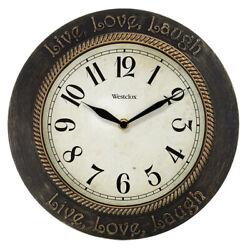 Westclox 11 Analog Quartz Live, Love, Laugh Wall Clock 32097