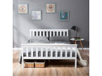 New Beautiful Pine Wooden Bed - Delivery Available