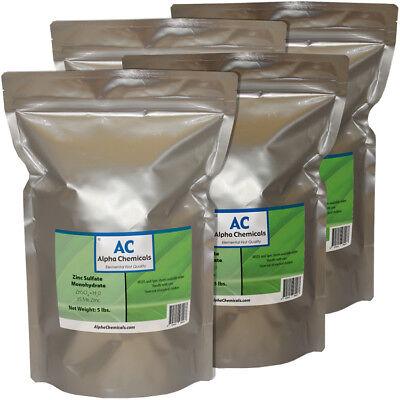 Zinc Sulfate Monohydrate Powder - 35.5 Zn - 20 Pounds