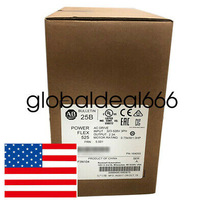 Us Stock Allen-bradley25b-d2p3n104 Powerflex 525ip203ph2.3a480v Ac Drive Fda