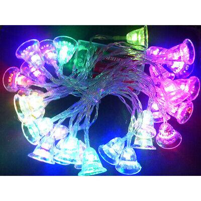 LED Lichterkette 30 Glocken Bunt blinkend Weihnachtsbeleuchtung Blinkfunktion ()