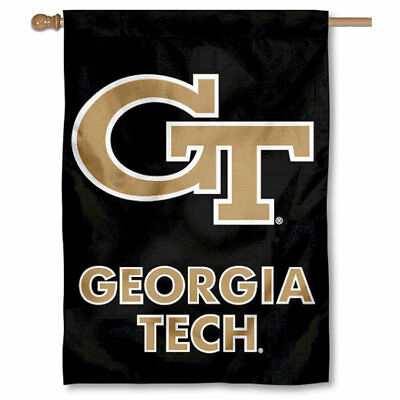 Georgia Tech House Flag (Georgia Tech Yellow Jackets Black 28