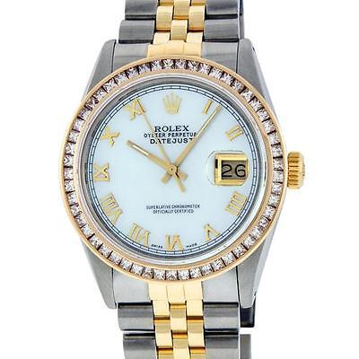Rolex Two-Tone 2.75 ctw Diamond DateJust Men's Watch Lot 660