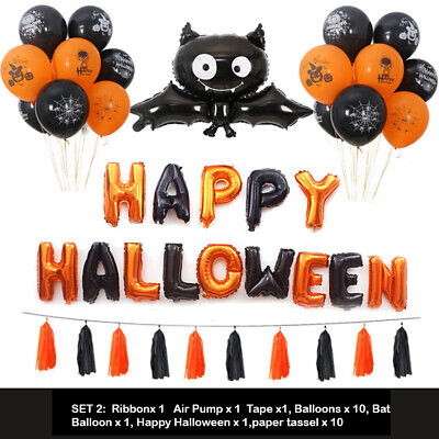 Halloween Balloon Garland Kit Black Cat Theme Party Ballon Arches Decor Set UK