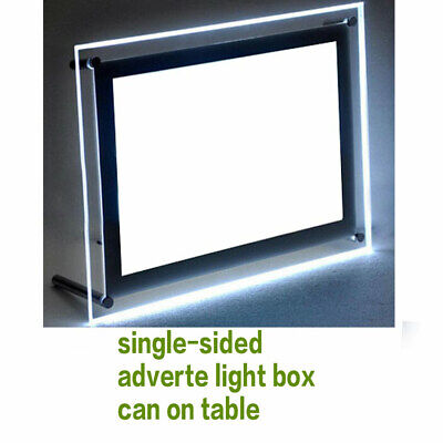 Light Box Shop Placed Bar Counter Desk Top Luminous Price List Display Adverte