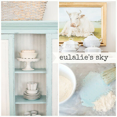 ( Miss Mustard Seed's Milk Paint -EULALIE'S SKY Blue/Green-Furniture Painting DIY)