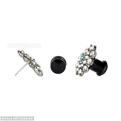 KoalaArt&Design Acrylic Plug Earring Converter Adapter Wear Earrings In Gauges ()